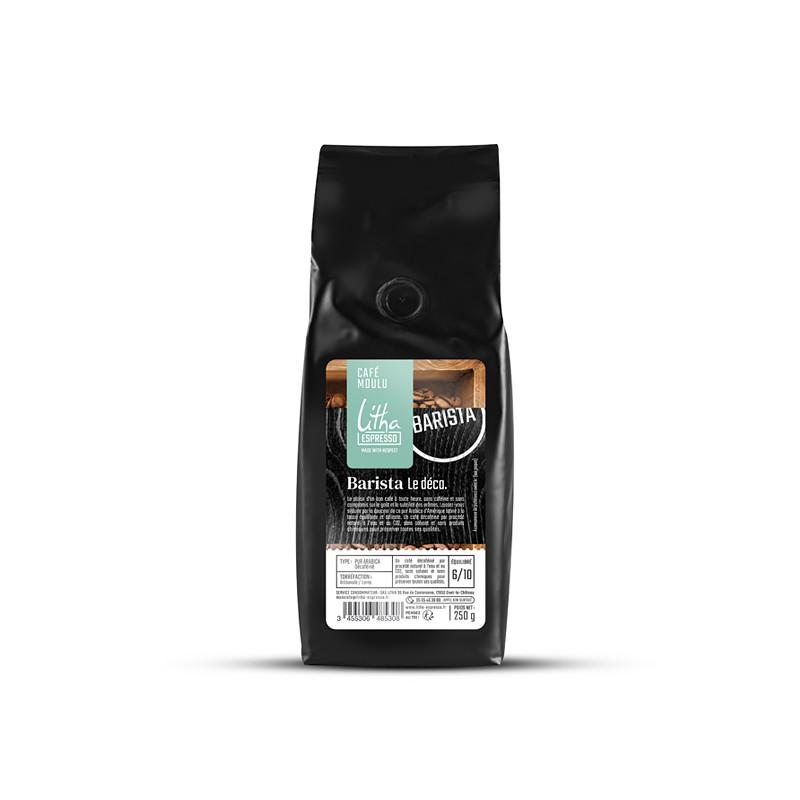 Café moulu 250 g - Barista Le déca.