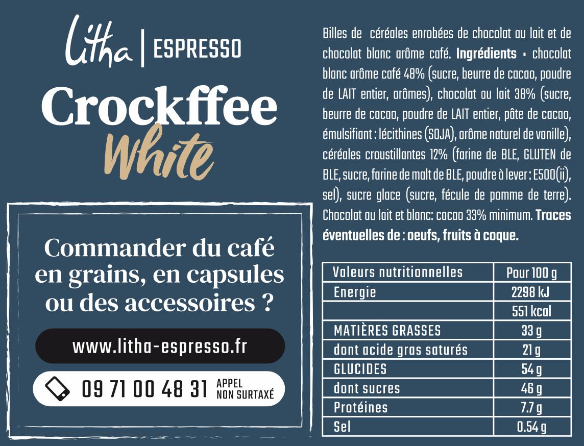 Chocolat blanc saveur café